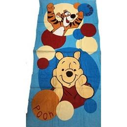 Telo Mare Winnie The Pooh in Spugna di Puro Cotone