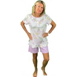 Bisbigli Pigiama Manica COTA Pantalone Bermuda Puro Cotone Art. 73785