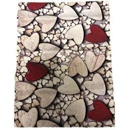 Tappeto con Antiscivolo Made in Italy Stampa Digitale Dis. Cuori (58 x 80 cm)