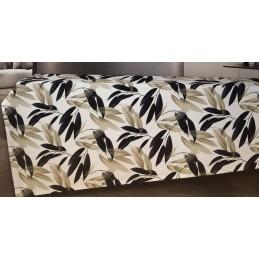 TAG HOUSE Tovaglia da tavola in Panama di Puro Cotone Made in Italy Dis. Foglie (6 posti 140 x 180 cm)