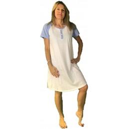 BISBIGLI Camicia da Notte Puro Cotone Quadretti Art. 73881
