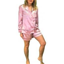Pigiama Aperto Manica Lunga Pantalone Corto Art. LOV0403