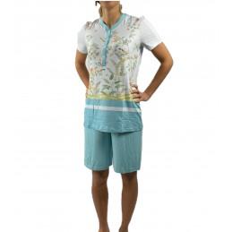 Bisbigli Pigiama in viscosa manica corta pantalone bermuda art. 02537